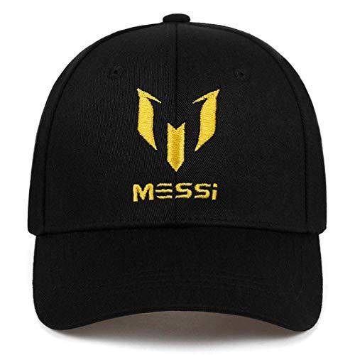 Mnbvcxzey Gorra debéisbol Bordada Moda Messi Bordado papá Sombrero Sombreros Casuales al Aire Libre Gorras de Golf al Aire Libre, Negro Amarillo