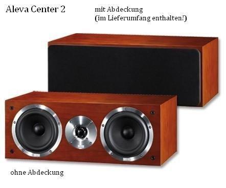 Heco Aleva Center 2 2-Wege Bassreflex-Center-Lautsprecher (100/160 Watt) Kirsche (Stück)
