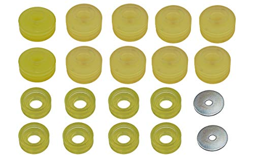State Warehouse KF04050BK Polyurethane Body Mounts compatible with F250/350 1999 to 2017 2/4WD -Yellow