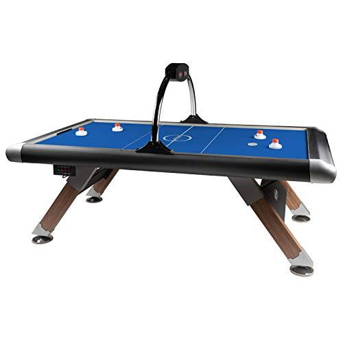 Automaten Hoffmann Airhockey-Tisch Blue Thunder | 90 kg| Privat, Schule, Verein | High-Speed-Oberfläche | 244x123x81 cm | Carbon-Optik | Hochleistungsgebläse | 4 Griffe + 4 Pucks