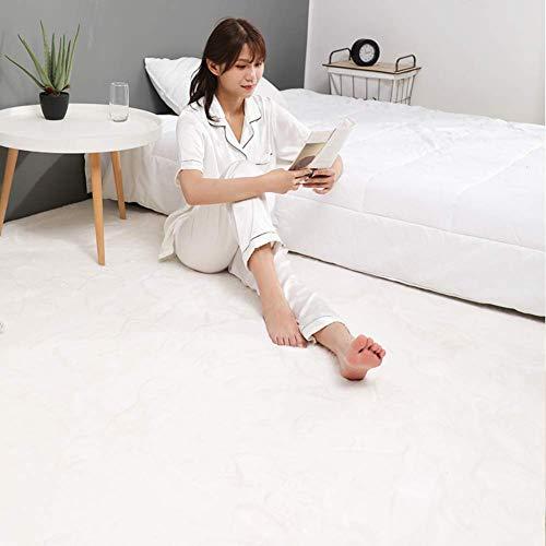 Ultraweiche Faux-Pelzbereich Teppich, dicke feste Farbe Kaninchen-Pelz-Teppich-Sofa-Cover-Bettdecke für Wohnzimmer Schlafzimmer Kinderzimmer-hellbraun 180x220cm (71x98inch), Elfenbeinweiß, 60x160cm (2