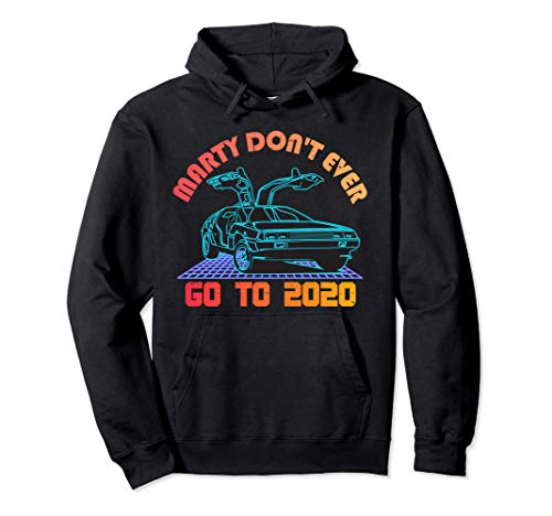 Adults Back To The Future, Marty Don't Ever Go to 2020 Hoodie, 5 Colors, S to 2XL