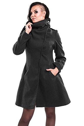 Vixxsin Mantel Necromancer Coat Grau S