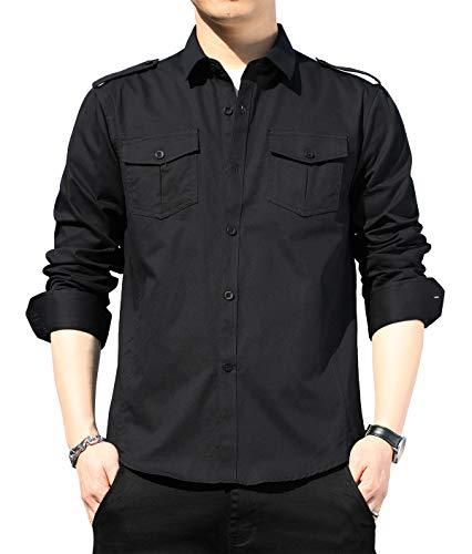 XTAPAN Men's Long Sleeve Casual Slim Fit Button Down