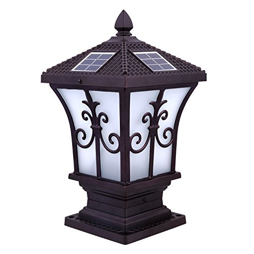Cnlight Beautiful LED Light Rechargeable Yellow and White Light Switchable Solar Lamp, Outdoor Solar LED Light, Wall Mount Lamp, Waterproof Solar Cover Garden Lamp,Street lamp