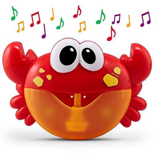 CHUCHIK Crab Bath Toy. Bubble Bath Maker for The Bathtub. Blows Bubbles and Plays 24 Children's Songs – Baby, Toddler Kids Bath Toys Makes Great Gifts for Toddlers – Sing-Along Bath Bubble Machine