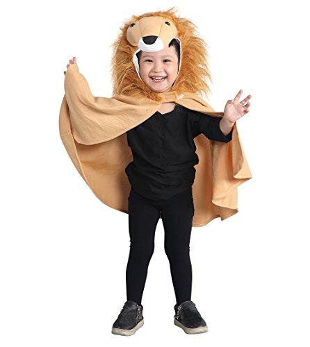 Löwen-Kostüm, An77 Gr. 74-98, als Umhang für Klein-Kinder und Babies, Löwen-Kostüme Fasching Karneval Fasnacht, Karnevalskostüme, Kinder-Faschingskostüme, Geburtstags-Geschenk Weihnachts-Geschenk