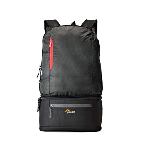 Lowepro 2WAYカメラバッグ 折りたたみリュック+ウエストバッグ パスポートデュオ 3.3L ブラック 370212