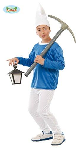 Guirca Costume vestito Puffo carnevale bambino 8155_ 7-9 anni