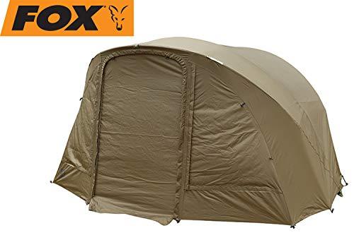 FOX R-Series 1 Man XL Khaki WRAP - Zeltüberwurf für Karpfenzelt, Überwurf für Angelzelt, Außenhülle für Zelt zum Angeln