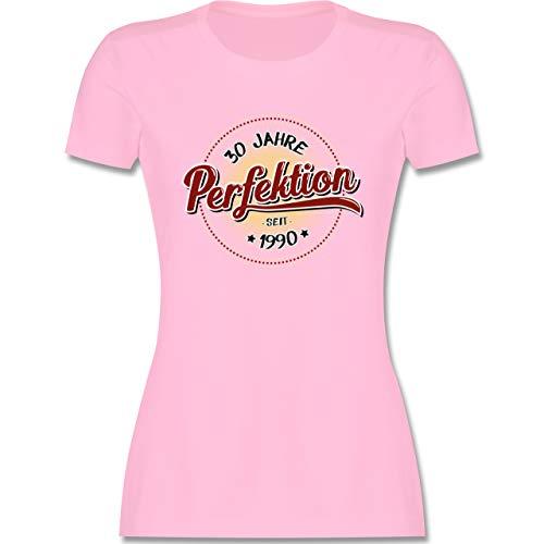 Geburtstag - 30 Jahre Perfektion seit 1990 - S - Rosa - geburtstagsshirt Damen - L191 - Tailliertes Tshirt für Damen und Frauen T-Shirt