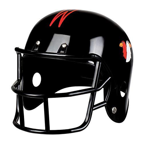 NET TOYS American Football Helm für Erwachsene - Schwarz - Sportliches Herren-Kostüm-Zubehör Sportler Schutzhelm - Perfekt geeignet für Fasching & Mottoparty