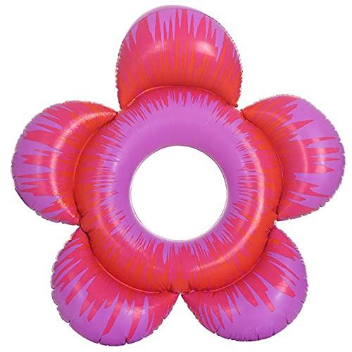 XBSXP Anillo de Natación Inflable, Tubo de Tumbonas Flotantes para Piscina de Verano en Forma de Flor Diversión en El Agua Juguetes de Fiesta en La Playa para Niños Adultos Fila Flotante