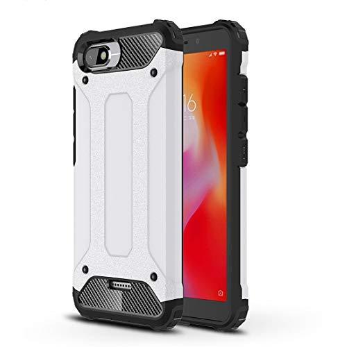 Price comparison product image ZHANGJIALI Jiali Cell Phone Cases CXSF Magic Armor TPU + PC Combination Case for Xiaomi Redmi 6A (Black) (Color : White)