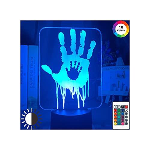 Lámpara de dibujos animados Lámpara para niños, videojuego Death Stranding Impresiones a mano en 3D Lámpara de ilusión LED Luz nocturna Luz de ilusión acrílica Luz de regalo