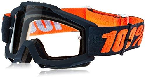 100 Percent ACCURI Goggle Matte Gunmetal-Clear Lens Gafas de protección, Adultos Unisex,...