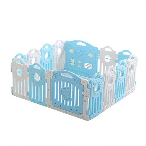 Great Price! CHAXIA Baby Playpen Kids Fence PE 14 Panels Game Activity Center Safety Fences Convenie...