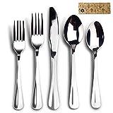 Silverware Set, Elegant Life 20 Piece Cutlery Set Stainless Steel Flatware Set Tableware Dinnerware Knife Fork Spoon, Service for 4