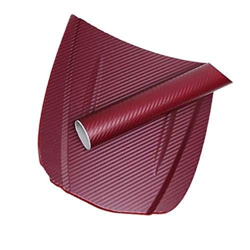 DONGJIE 3D-Carbon-Faser-Auto-Film Adhesive Car Wrap wasserdichte Auto-Film-Verpackungs-Aufkleber-Blatt-Rolle DIY Abziehbild-Dekor Hochglanz Wasserdicht
