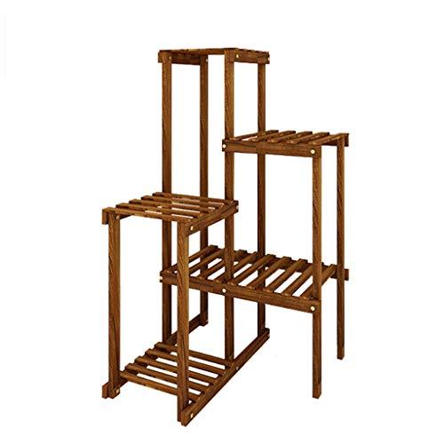 XUEZHEN Bloementrap, multifunctionele hoek, bloemenstandaard, massief hout, voor woonkamer, balkon, tuin