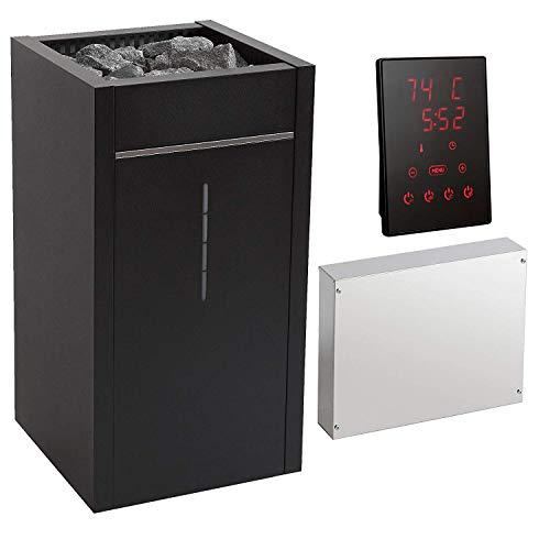 Saunaofen-Set Premium Harvia VIRTA Combi, inkl. Saunasteuerung mit Touch-Bedienfeld und 70 KG Aufguss-Saunasteine (11 kW)