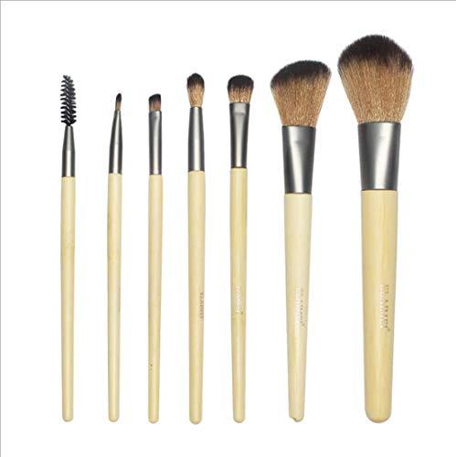 MU Outils de beauté pinceau de maquillage professionnel, 7Pcs Bois Couleur Multi Function Ombre à paupières Pinceau à lèvres