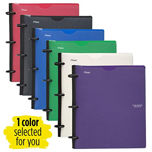 Five Star Flex Hybrid NoteBinder, 1 Inch Binder with Tabs, Notebook and 3 Ring Binder All-in-One, Assorted Colors, Color Selected for You, 1 Count (29326) Photo #3