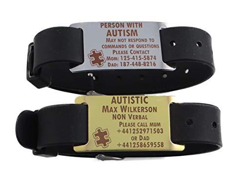 Premium Autism Autistic Aspergers Bracelet - Free Dark Laser Engraving Custom Personalization
