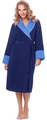 Merry Style Bata Larga Vestidos de Casa Ropa Mujer MSLL1003 (Azul Oscuro(5066), XL)