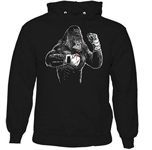 pingu Boxe Gorille Hommes Drôle Gym Capuche MMA Muay Thaï Kickers Entraînement Haut
