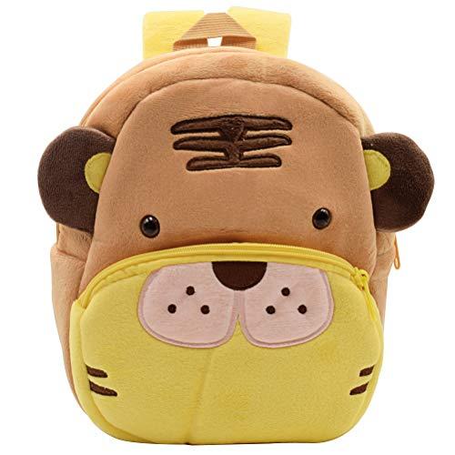 Toddler Backpack ZSWQ-Mini Children's Bag Plush Animal Cartoon, Mini Children's Bag for Baby Girl/Boy, Age 1-5 Years(Tiger)