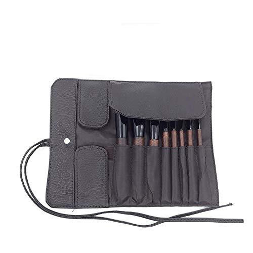 8 Imitation Ebony Solid Wood Eye Brush Makeup Brush Set Professional Make-Up Tools Feel Comfortable Natural And Environmentally Friendly Not Easy To Fade