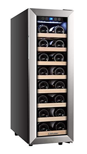 Kalamera Weinkühlschrank, Eine Zonen,Kompressionskühler,21 Flaschen,65 Liter,Kühltemperatur: 5-18 °C