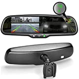 Master Tailgaters OEM Rear View Mirror with Ultra Bright 4.3' Auto Adjusting Brightness LCD + Auto Dimming Mirror + Compass & Temperature - Universal Fit (Complete Replacement)