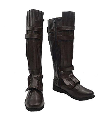 Star Wars Darth Vader Anakin Skywalker Cosplay Schuhe Braun Stiefel Custom Made, damen Mädchen Jungen Herren, braun