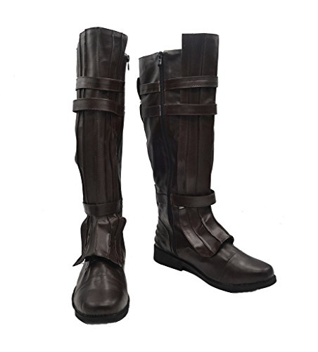 Telacos Star Wars Darth Vader Anakin Skywalker Zapatos de Cosplay Marrón Botas...