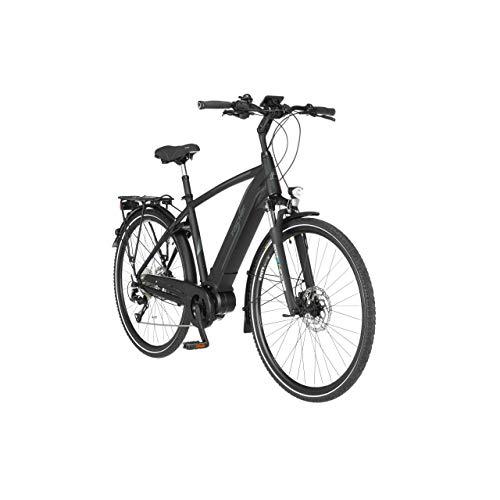 FISCHER Herren - Trekking E-Bike VIATOR 4.0i, Elektrofahrrad, schwarz matt, 28 Zoll, RH 50 cm, Mittelmotor 50 Nm, 48 V/504 Wh Akku im Rahmen