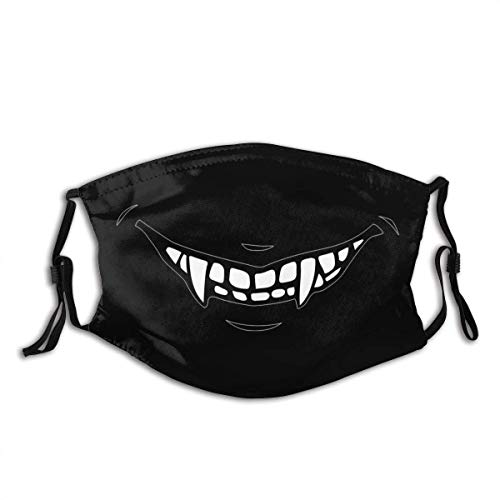 Jopath Vampire Fangs Personalized Unisex Face Face Cover Shield Balaclava Mouth Cover Washable Reusable with Activated Carbon Filter US Made