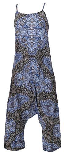 GURU SHOP Jumpsuit, Sommer Pluderhose Overall, Aladin Hosenkleid, Damen, Blau, Synthetisch, Size:40, Lange Hosen Alternative Bekleidung