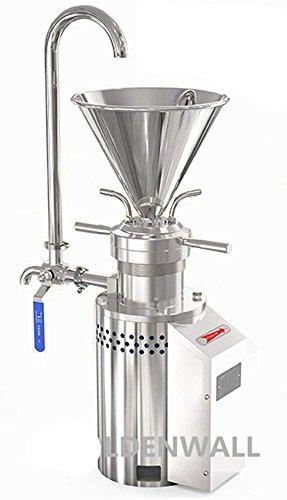 Roestvrij stalen pindakaas colloïde molen machine 10-20kg/h Enkele fase met draad plug voor Sojabonen Melk kaas chocolade saus JM-L50-110V