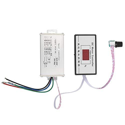 SALUTUYA Regulador de Velocidad del Motor de CC, Controlador de Velocidad del Motor, Material de Primera Calidad Estable para regulador de Velocidad para Control de Velocidad