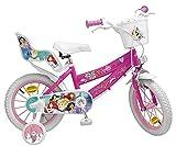 Pik&Roll Princesse - Bicicleta para niña, 14 Pulgadas, Color Rosa