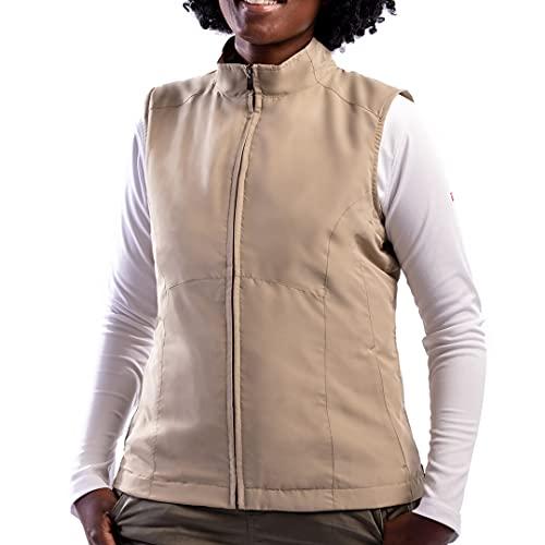 SCOTTeVEST Damen RFID Reisewesten mit 18 Taschen - Utility Vest für Frauen - Beige - 4X-Large