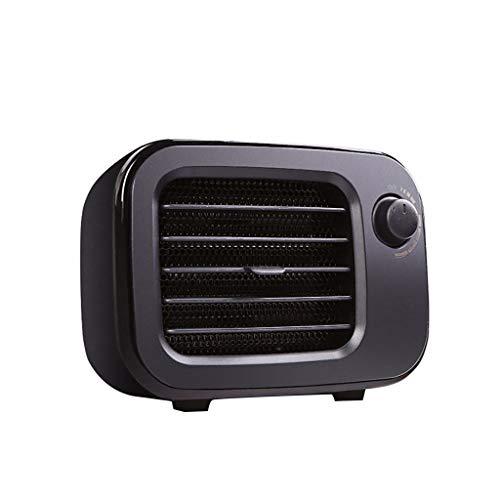 R-Cors Calentador Ventilador Escritorio Eléctrico Termostático Calentador de Manos Calefacción doméstica Tranquilo Portátil (Negro)