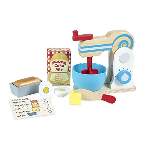 Melissa & Doug Wooden Make-a-Cake Mixer Set, Multicolor (19840)