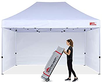 MASTERCANOPY Durable Pop-up Canopy Tent 10x15 Heavy Duty Instant Canopy with Sidewalls White