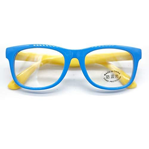 CUTEH Gafas Anti-Azules para Niños Protección de La Luz Azul Protección de Los Ojos Reduce La Fatiga Ocular Apto para Niños Niños Y Niñas