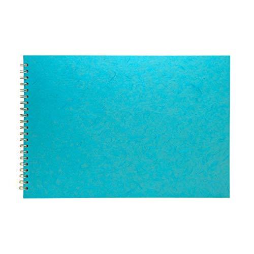 Pink Pig AQUA omslag van bruin papier, maat A3, liggend formaat