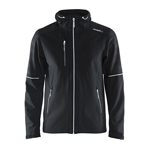 Craft Herren Highland Jacket M wh XL Jacke, Black/White