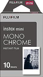 Fujifilm Instax Designer Film's 10 Sheet Credit Card Size Film for Mini Camera's (Available in Many Design's Choose Your) (Monochrome),FUJIFILM